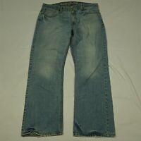 American Eagle 36 x 32 Bootcut Light Wash Distressed Denim Jeans