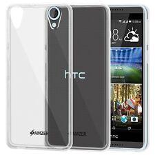 Amzer Esclusivo Budino opaca TPU pelle Custodia per HTC Desire 820 820g Plus-Chiaro