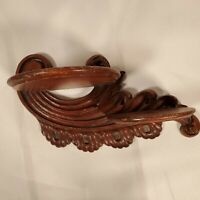 Small antique HAND CARVED Wooden WALL  Sconce/shelf