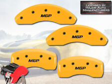 "2016-2018 Chevy Volt Front + Rear Yellow ""MGP"" Brake Disc Caliper Covers 4pc Set"