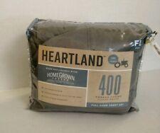 Heartland® HomeGrown™ 400-Tc Sheet Set Full Solid Grey