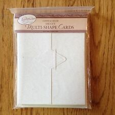 tapestry by C.R. Gibson coffee & cream die cut multi-shape cards