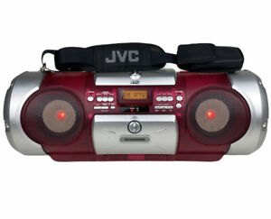 JVC Kaboom RV-B550RD Pink Light Up Boombox CD Radio Aux VTG FOR PARTS