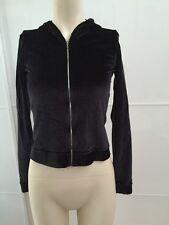 Chanel Black Sweatshirt With Hood And Zipper Size 38