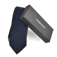Men's Wool Ties Herringbone Tweed Classic Business Wedding Formal Wool Ties B5