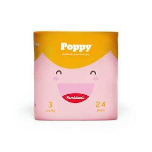 Famideal Pannolini Poppy taglia 3 (4-9 kg) 144 pezzi super assorbenti in offerta