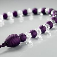 SILKPURPLE  BEADS SPARKLY CLEAR GLASS BEAD ROPE CURTAIN VOILE TIEBACK £4.99 EACH