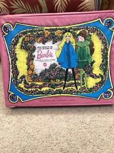 Vintage 1968 Mattel, The World of Barbie Doll Case, Made in USA, 18 x 14