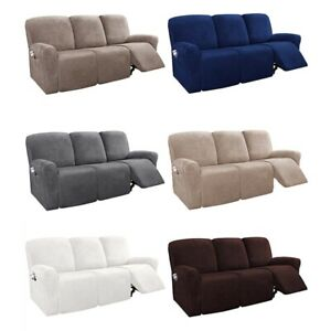 1/2/3Seater Sofa Recliner Slipcover Furniture Chair Lazy Boy Cover Stretch Suede
