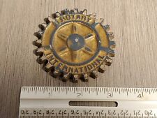 Vintage Rotary International Club Cast Iron Gear Cog PAPERWEIGHT