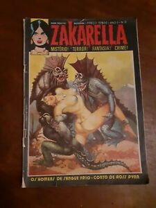 Zakarella #2 of 1976 horror comics magazine Portuguese edition terror erotic