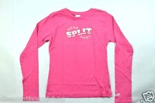 Split TIK TOK Pink White Screen Print Skate Junior's Long Sleeve  T-Shirt