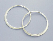 925 Sterling Silver 4 Circle Links, Connectors 20 mm.