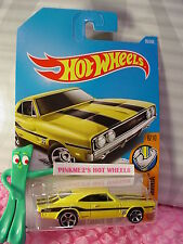 '69 DODGE CHARGER 500 #95✰yellow;MC5;Mooneyes✰MUSCLE MANIA✰2017 i Hot Wheels D/E