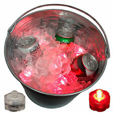 Holiday Party Champagne Beverage Ice Bucket Glow Light LED Submersible 12 R