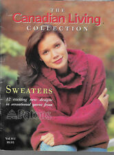 "Patons'  ""The Canadian Living Collection"" - 12 exciting new designs for sweaters"