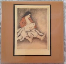 """Decorative 8"""" by 8"""" Tile by Rc Gorman """"Mother and Child"""" Vguc"""