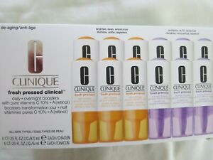CLINIQUE Fresh Pressed Clinical daily & overnight boosters 6 of each ~New in box