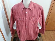 Duluth Trading red & white stripe long sleeve button down - mens XL Tall