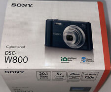 Sony Cyber-shot DSC-W800 20.1MP Digital Camera 5x Optical Zoom Black 0840627