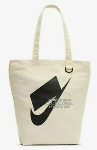Nike Heritage Tote Canvas Bag Natura/Tan/Beige BA6027-130 One Size NWT!