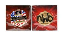 Set of 2 WWE US United States & NWO Championship Pins by Loot Crate Slam Crate