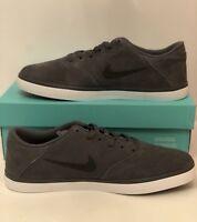 Nike SB Check Solarsoft Skateboarding Shoes Mens 9 Dark Grey Black