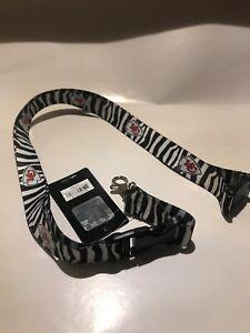Nfl Kansas City Chiefs Zebra Print Lanyard Keychain