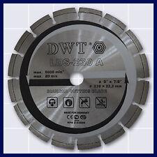 Lasergeschweißt Diamanttrennschebe Trennscheibe Asphalt Ø 230 x 22,2 mm