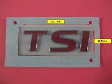 TSI RED Emblem Badge Logo Sticker for VW Golf Tiguan Jetta Passat Tiguan Polo