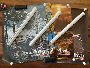 Lot of 7 Vintage 1970s Travel Alberta Canada Tourism Posters Nature Beauty 22x28