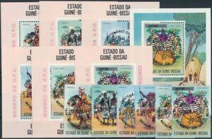 Guinea-Bissau 1976 Mi.Nr.374-379a,BL11-17A (schwarzer Aufdr.) postfrisch**