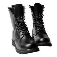 US Black Combat Leather Shoes Lace Up Men's Military Ankle Boots Wouk Shoes Size