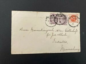 Postal History GB QV 1897 Cover from Manchester to Braunschweig, Germany