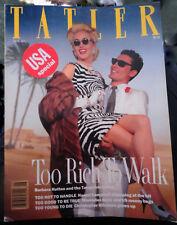Vtg British UK TATLER 6/1989 Naomi Campbell Mike Tyson Laura Ashley Paul Smith