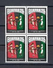 1968 Biafra Sc# 19 Nurse & refugees 2sh 6p Nigeria block 4 Mnh