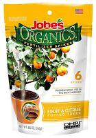 Jobes Organics 04226 Fruit & Citrus Tree Fertilizer Spikes, 3-5-5, 6-Pack