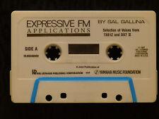 rare Sal Gallina tape cassette Expressive FM applications for yamaha tx81z & DX7