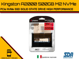 HardDisk SSD Kingston A2000 3D NVME PCIe M.2 da 500GB HDD Stato Solido