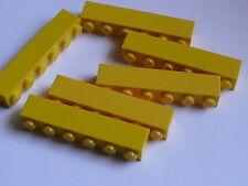 Lego 6 briques jaunes / 6 yellow bricks 1 x 6