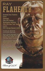 Ray Flaherty Washington Redskins Football Hall of Fame Bust Card