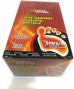 Little Hotties Adhesive Toe Warmers 30 Pairs Bulk Pack 5 Hours Heat, Feet