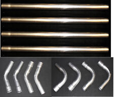 "New! 2"" Diy Exhaust Kit 45-90 Degree Straight Tubing 12 pc Set Aluminized Pipe"