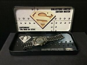 SUPERMAN MAN OF STEEL 1995 DC Comics Limited Edition Watch /15,000