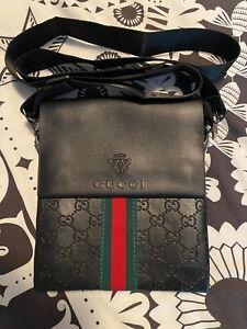 Men's Leather Gucci Shoulder Bag