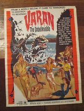 Varan The Unbelievable    -Original  Movie Poster