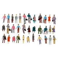 100pcs Painted Model Train Passenger People Figures Scale 1:150 DT