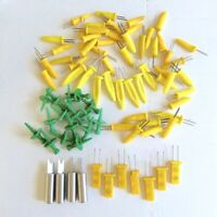 Corn on the Cob Picks 75+ Plastic Metal Yellow Green Lot Most Vintage
