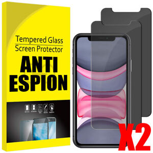 Verre Trempé Film Protection Anti Espion Privacy iPhone 12 11 Pro Max/Xs/XR/X SE