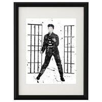 ELVIS PRESSLEY Print Poster Watercolour Framed Canvas Wall Art gift Watercolor